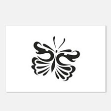 ONE COLOR BUTTERFLY Postcards (Package of 8)