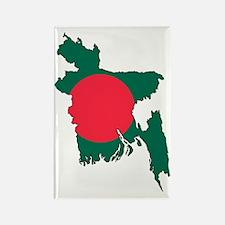 Bangladesh Flag Map Rectangle Magnet