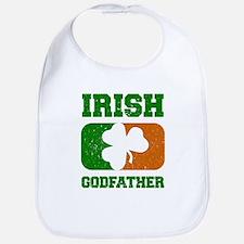 Irish Godfather Shamrock Flag Bib