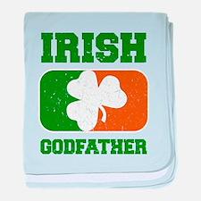 Irish Godfather Shamrock Flag baby blanket