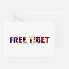 For A Free Tibet: Greeting Cards (Pk of 20)