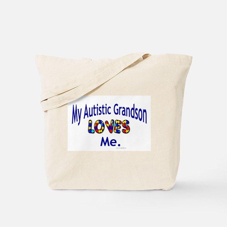My Autistic Grandson Loves Me Tote Bag