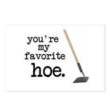 You're My Favorite Hoe Postcards (Package of 8)