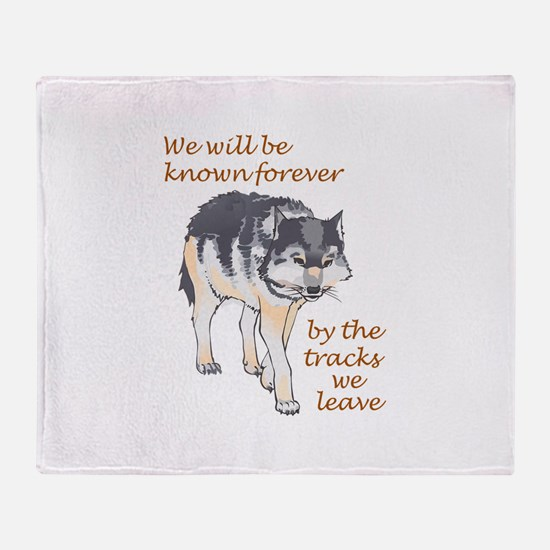 WE WILL BE KNOWN Throw Blanket