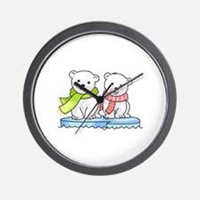 POLAR BEAR CUBS Wall Clock