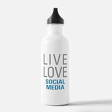 Social Media Water Bottle