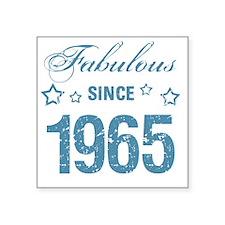 "Fabulous Since 1965 Square Sticker 3"" x 3"""