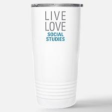 Social Studies Stainless Steel Travel Mug