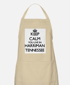 Keep calm you live in Harriman Tennessee Apron