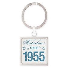 Fabulous Since 1955 Square Keychain