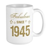 1945 birthday Large Mugs (15 oz)