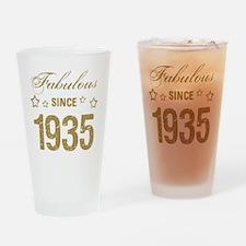 Fabulous Since 1935 Drinking Glass