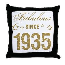 Fabulous Since 1935 Throw Pillow