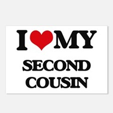 I love my Second Cousin Postcards (Package of 8)
