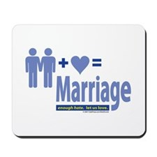 2 Men+Love=Marriage Mousepad