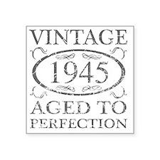 "Vintage 1945 Square Sticker 3"" x 3"""