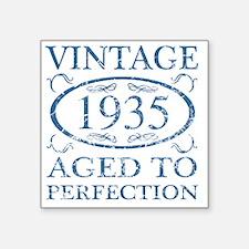 "Vintage 1935 Square Sticker 3"" x 3"""