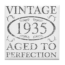 Vintage 1935 Tile Coaster