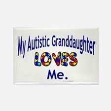 My Autistic Granddaughter Loves Me Rectangle Magne