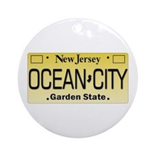 Ocean City NJ Tag Giftware Ornament (Round)