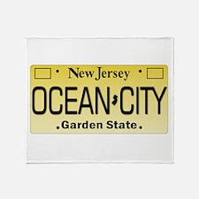 Ocean City NJ Tag Giftware Throw Blanket
