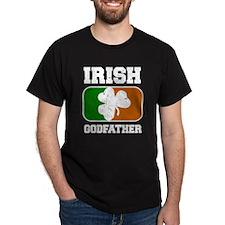 Irish Godfather Shamrock Flag (Dark) T-Shirt