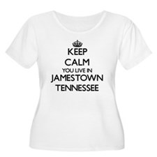 Keep calm you live in Jamestown Plus Size T-Shirt