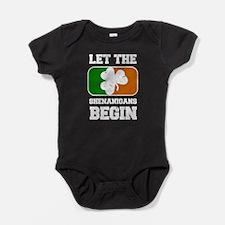 Let the Shenanigans Begin Shamrock F Baby Bodysuit