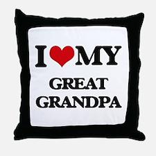 I love my Great Grandpa Throw Pillow