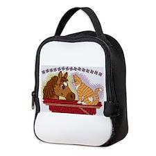 Cute Cross stitching Neoprene Lunch Bag