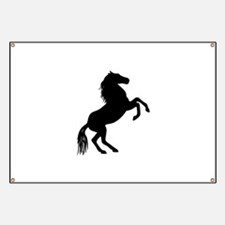 SMALL REARING HORSE Banner