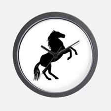 SMALL REARING HORSE Wall Clock
