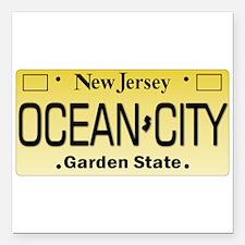 "Ocean City NJ Tag Giftwa Square Car Magnet 3"" x 3"""