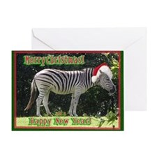 Helaine's Zebra Christmas Greeting Card