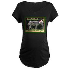 Helaine's Zebra Christmas T-Shirt
