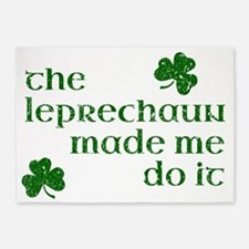 The Leprechaun Made Me Do It 5'x7'Area Rug