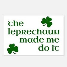 The Leprechaun Made Me Do Postcards (Package of 8)