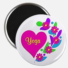 """Yoga Heart 2.25"""" Magnet (100 pack)"""