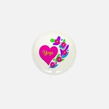 Yoga Heart Mini Button (100 pack)