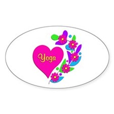 Yoga Heart Decal
