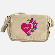 Yoga Heart Messenger Bag