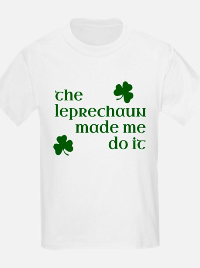 The Leprechaun Made Me Do It (Green) T-Shirt