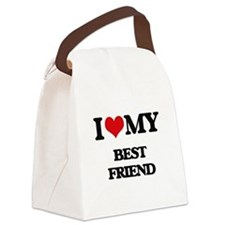 I love my Best Friend Canvas Lunch Bag