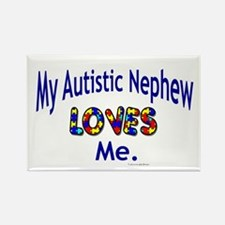 My Autistic Nephew Loves Me Rectangle Magnet