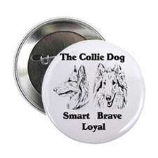 """Collie Character Traits 2.25"""" Button (10 pack)"""