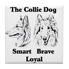 Collie Character Traits Tile Coaster