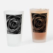 Black Rose Drinking Glass