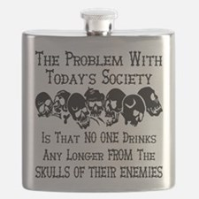 Skulls Of Our Enemies Flask