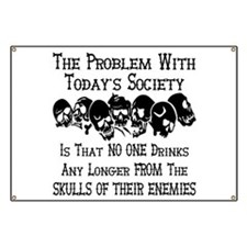 Skulls Of Our Enemies Banner