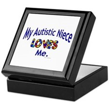 My Autistic Niece Loves Me Keepsake Box